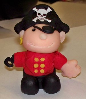 Fondant pirate for the pirate cake