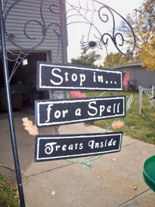 Halloween sign 2011